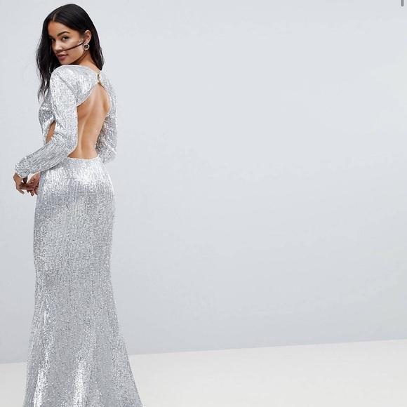 Dresses Formal Sequin Dress Maxi Gown Wedding Backless Poshmark
